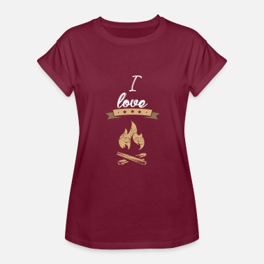 Tinder I love camping gift - Women's Relaxed Fit T-Shirt