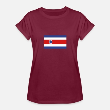 Costa Coffee National Flag Of Costa Rica - Women's Relaxed Fit T-Shirt