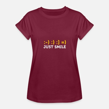 Mirc Just Smile! - Women's Relaxed Fit T-Shirt