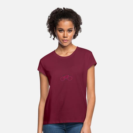 Wait T-Shirts - Red Roadbike. Hipster. Single Speed - Women's Loose Fit T-Shirt burgundy