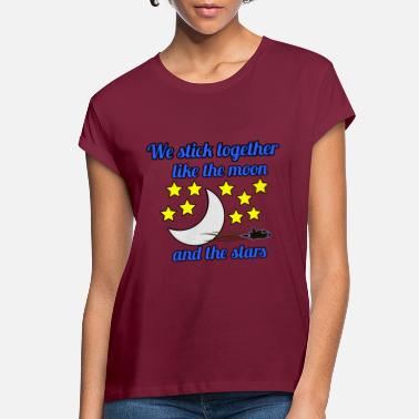 Stars MOON AND STARS - Women's Loose Fit T-Shirt