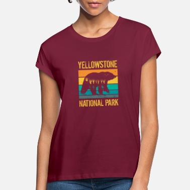 Natural Vintage Yellowstone National Park Bear - Women's Loose Fit T-Shirt