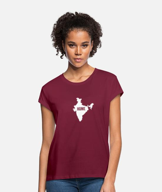 Ahmedabad T-Shirts - India Home - Women's Loose Fit T-Shirt burgundy