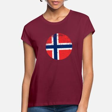 Norwegian Country Flag Norwegian Flag Norway - Women's Loose Fit T-Shirt