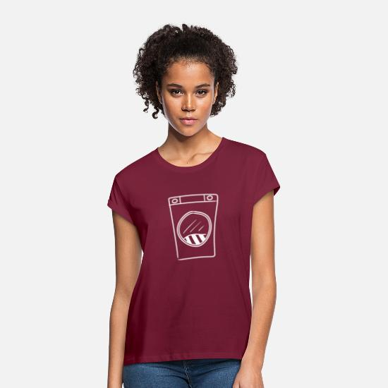 Washing Machine T-Shirts - washing machine household laundry wash clean home - Women's Loose Fit T-Shirt burgundy