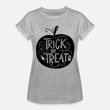 Naughty Trick Or Treat Funny Cool trick or treat Halloween - Women's Relaxed Fit T-Shirt