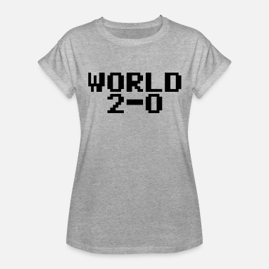 Back Font World 2-0 (80s PC font) - Women's Relaxed Fit T-Shirt