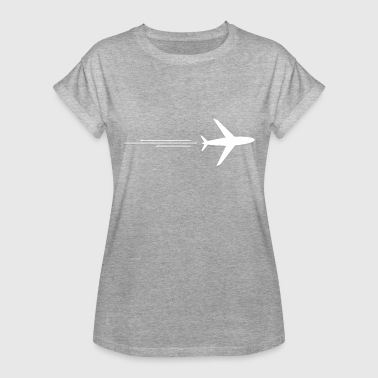 Airplane - Flugzeug Traveler Plane Airplane Flugzeug Aircraft - Women's Relaxed Fit T-Shirt