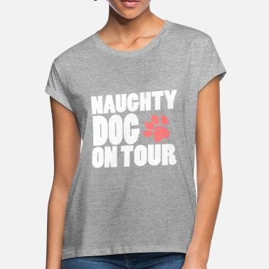GIFT - NAUGHTY DOG ON TOUR WHITE - Women's Loose Fit T-Shirt
