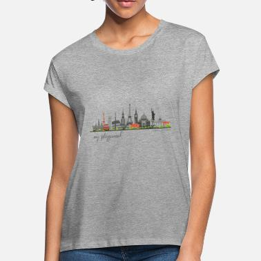 Tower WORLD - MY PLAYGROUND - Carolyn Sandstrom - Women's Loose Fit T-Shirt