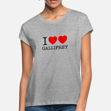 I Heart I HEART HEART GALLIFREY - Women's Loose Fit T-Shirt