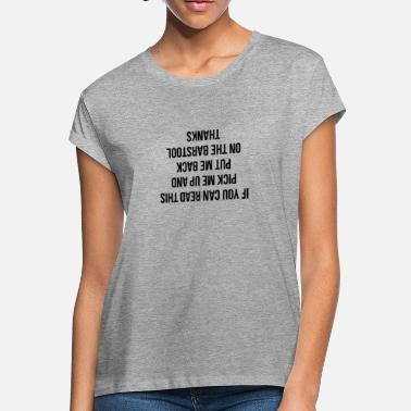 Mens Tee Shirt Pick If You Can Read This Put Me Back On Barstool Upside Down