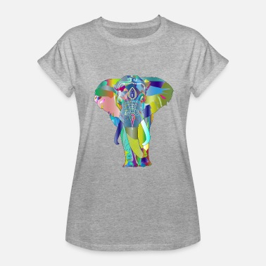 Colorful elephant - Women's Relaxed Fit T-Shirt