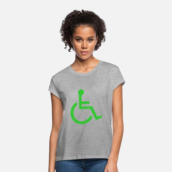 Symbol  T-Shirts - Wheelchair symbol mailto - Women's Loose Fit T-Shirt heather gray