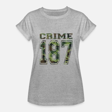 Weed Football Clyde 187 crime strasse Bonnie rot weed weed - Women's Relaxed Fit T-Shirt