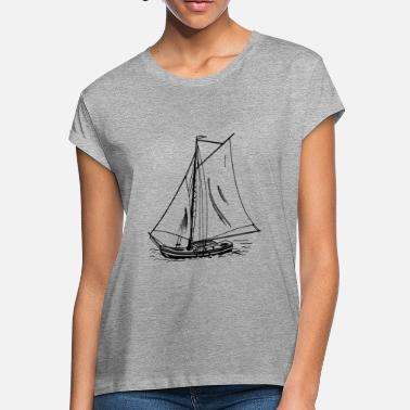 Paddle Boat paddle boat sail boat ruderboot segelboot60 - Women's Loose Fit T-Shirt