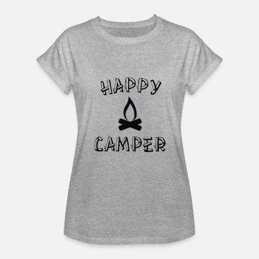 Personalized Happy Camper Happy Camper - Women's Relaxed Fit T-Shirt
