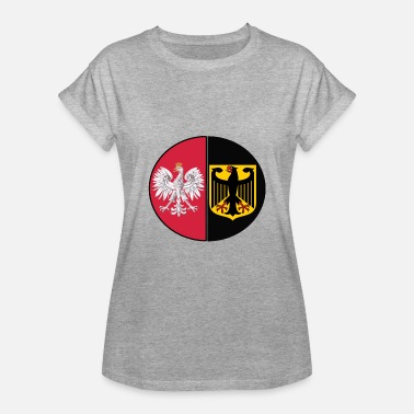 Polish Nationality Polish German mixed heritage national design - Women's Relaxed Fit T-Shirt