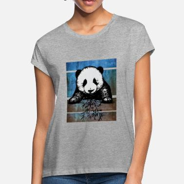 Panda Pop Art panda graffiti love pop art - Women's Loose Fit T-Shirt