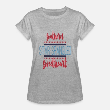 Southern Star Southern Star Spangled Sweetheart Fourth Of July Patriotic Flag Gift - Women's Relaxed Fit T-Shirt