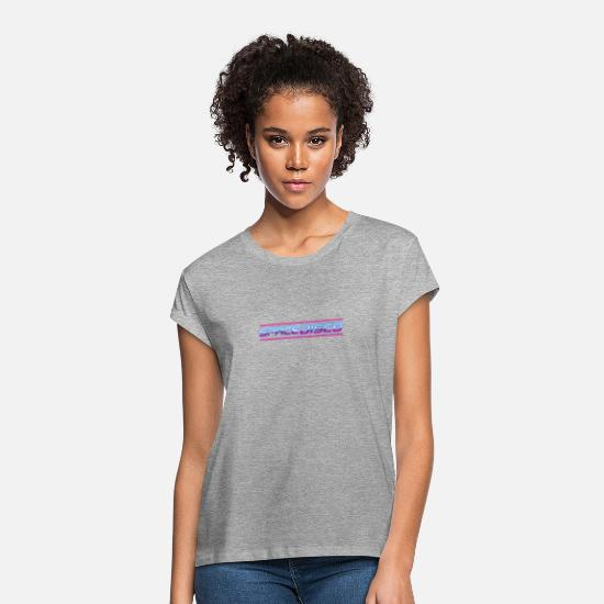 Dj T-Shirts - Space Disco Cyber Cool Gift Retro Style Club Music - Women's Loose Fit T-Shirt heather gray