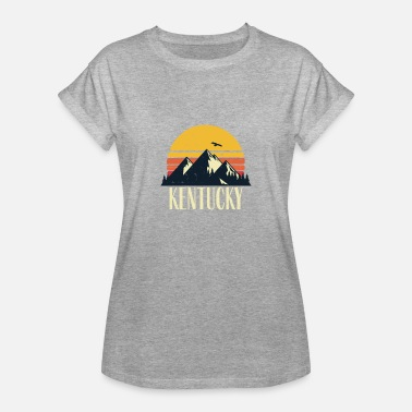 Blue Mountain State Kentucky Retro Vintage State Mountain Sunset - Women's Relaxed Fit T-Shirt
