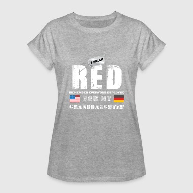 Afghanistan Military Wear RED Fridays Military Shirt Proud Granddaughter Deployed in Germany - Women's Relaxed Fit T-Shirt