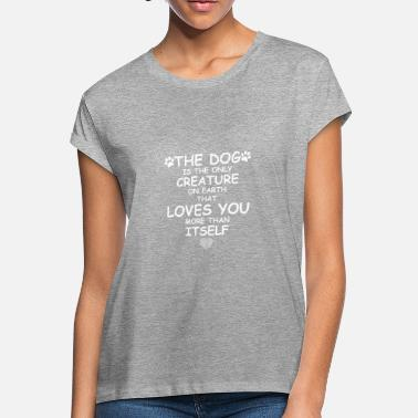 Sayings dog saying dog love paw heart - Women's Loose Fit T-Shirt