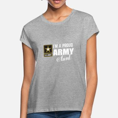 Army I'm A Proud Army Aunt T-shirt - Women's Loose Fit T-Shirt