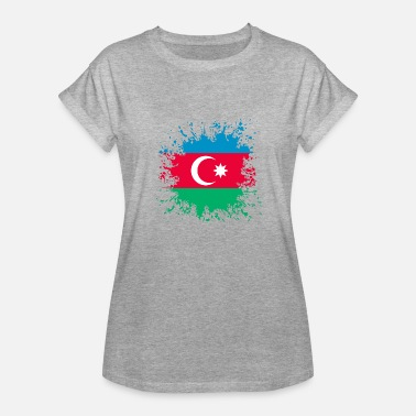 Paint Splashes Azerbaijan Flag Paint Splashes Splash - Women's Relaxed Fit T-Shirt