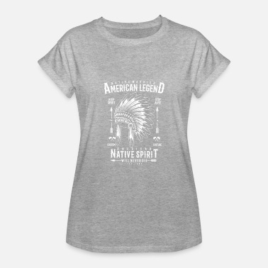 True People Native Warrior - Women's Relaxed Fit T-Shirt