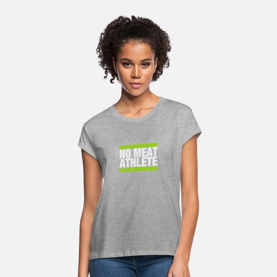 Meaty T-Shirts - No Meat ATHLETE - Women's Loose Fit T-Shirt heather gray