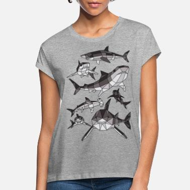 For Boys Geometric Sharks - Women's Loose Fit T-Shirt