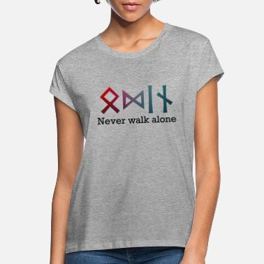 Germanic Tribes Viking Design: ODIN - never walk alone - Women's Loose Fit T-Shirt