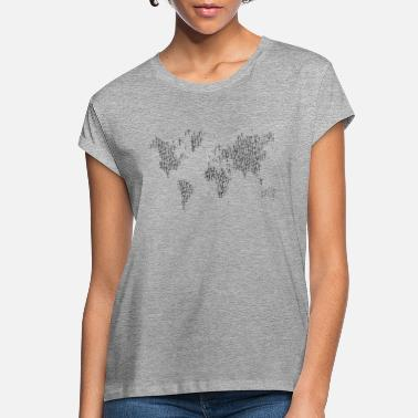 Wind World Map Wind Turbines - Women's Loose Fit T-Shirt