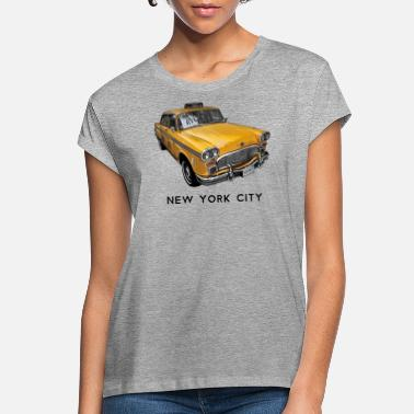 Ny New York City Classic Yellow NYC Checker Taxi Cab - Women's Loose Fit T-Shirt