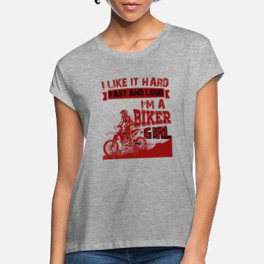 Loud I'm A Biker Girl T Shirt, Gift For Biker T Shirt - Women's Loose Fit T-Shirt