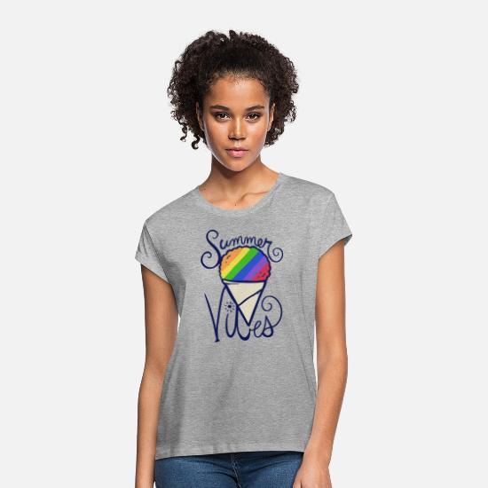 Snow T-Shirts - Summer Vibes - Women's Loose Fit T-Shirt heather gray