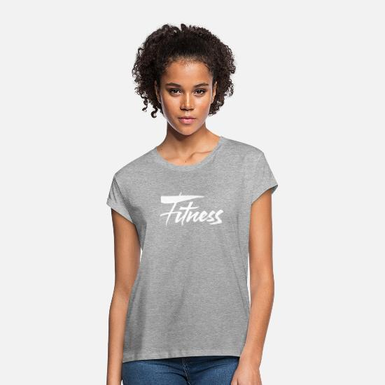 Fitness T-Shirts - Fitness - Women's Loose Fit T-Shirt heather gray
