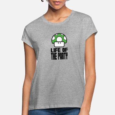 Super Mario Mushroom Life Of The Party - Super Mario Bros. - Women's Loose Fit T-Shirt