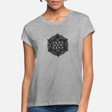 Sacred Geometry Sacred Geometry Flower of Life Mandala Star - Women's Loose Fit T-Shirt