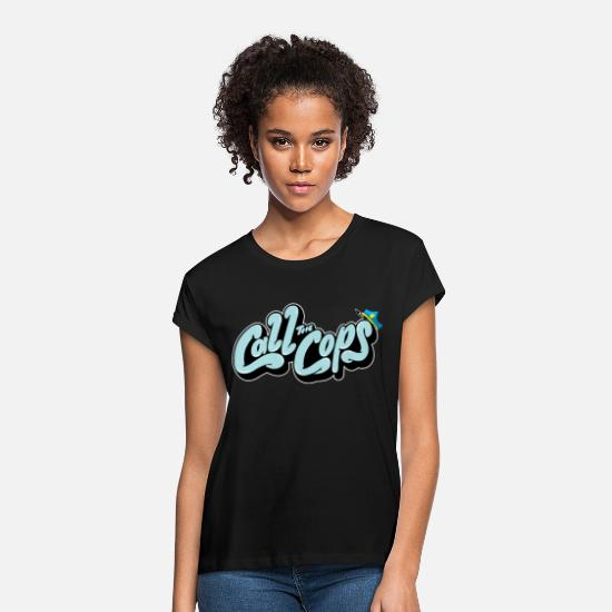 The Office T-Shirts - Call the cops - Women's Loose Fit T-Shirt black