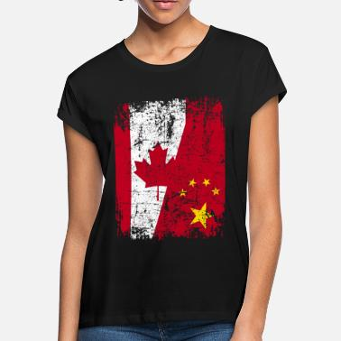 China CANADA CHINA FLAG - Women's Loose Fit T-Shirt