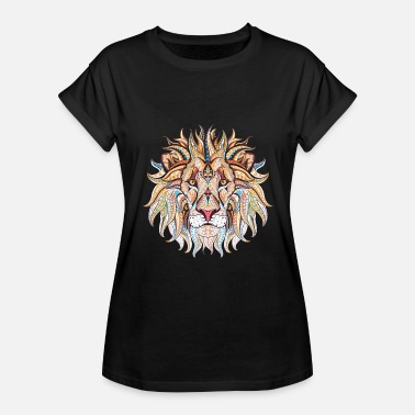 Ethnic Tribal Ethnic Tribal Lion - Women's Relaxed Fit T-Shirt