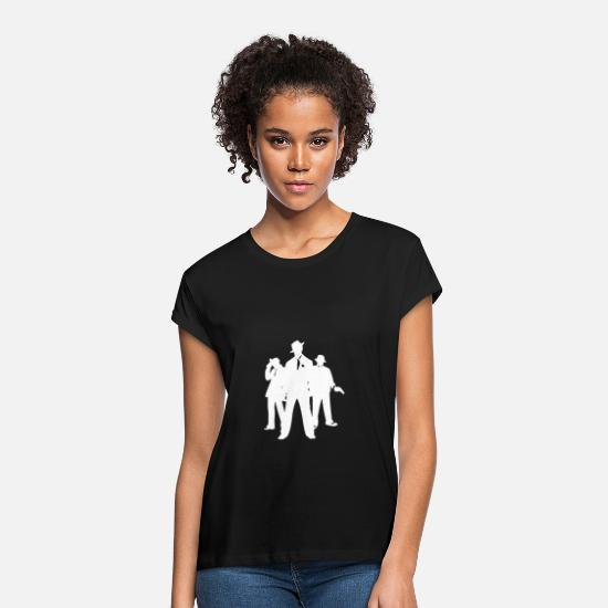Gangster T-Shirts - mafia gangster squad fifties sixties thug - Women's Loose Fit T-Shirt black