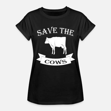 Save The Cow Cow - Women's Relaxed Fit T-Shirt