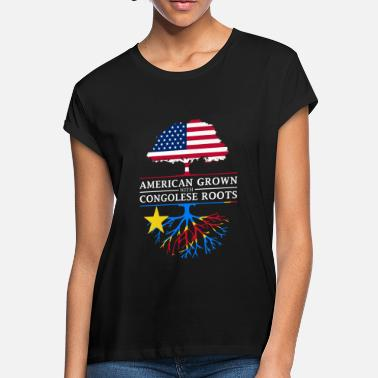 Democrat American Grown with Congolese Roots Democratic Congo Design - Women's Loose Fit T-Shirt
