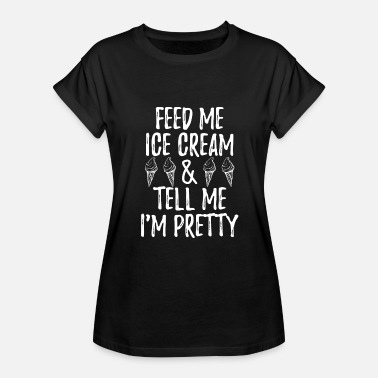 Ube Ice Cream Beautiful Foodie Frozen Funny Gift - Women's Relaxed Fit T-Shirt