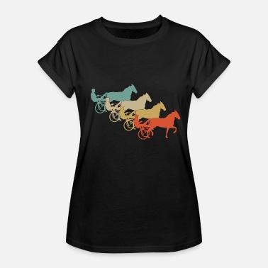 Retro Racing Retro Vintage Style Harness Racing Equitation - Women's Relaxed Fit T-Shirt