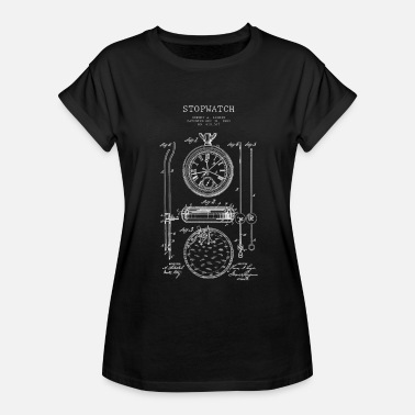 Drawing Stopwatch technical drawing patent design - Women's Relaxed Fit T-Shirt